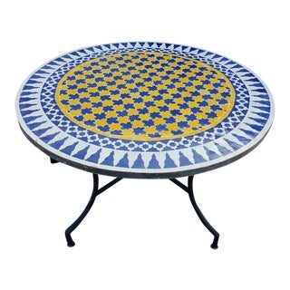 Moroccan Multi-Color Mosaic Coffee Table For Sale
