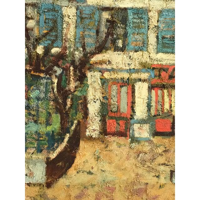 Cubism 1940-1950s Original Abraham Krol Landscape Oil Painting For Sale - Image 3 of 8