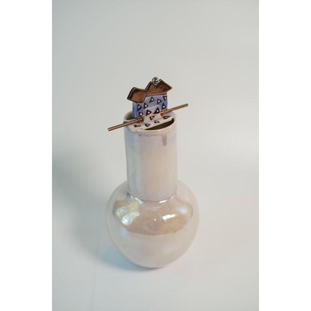 1990s 1990s Postmodern Ceramic Vase For Sale - Image 5 of 5