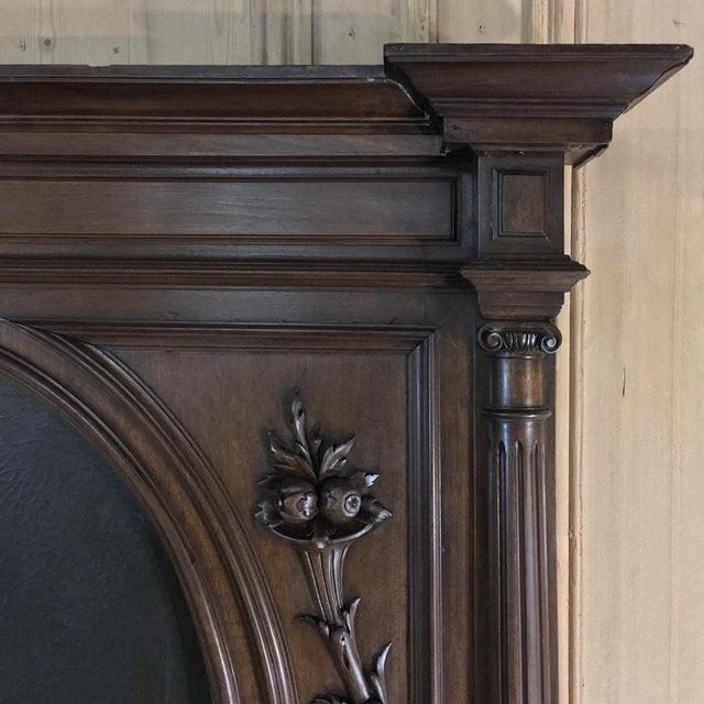 French Trumeau, 19th Century French Henri II in Walnut For Sale - Image 3 of 12