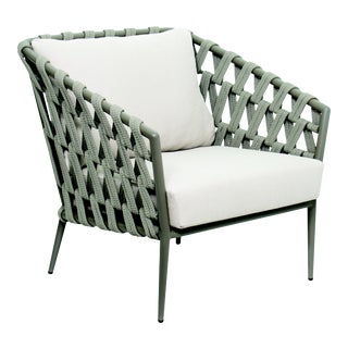 Andaman Lounge Chair in Light Gray For Sale