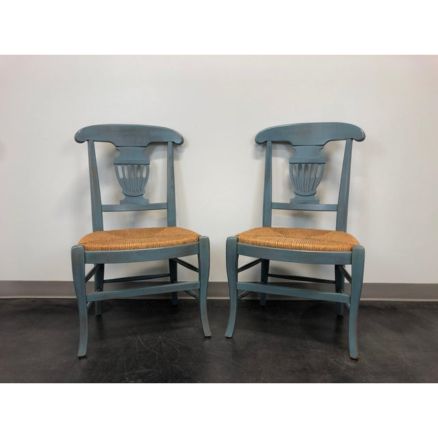 Country Cottage Shabby Chic Painted Distressed Dining Chairs - Pair 2 For Sale - Image 11 of 11