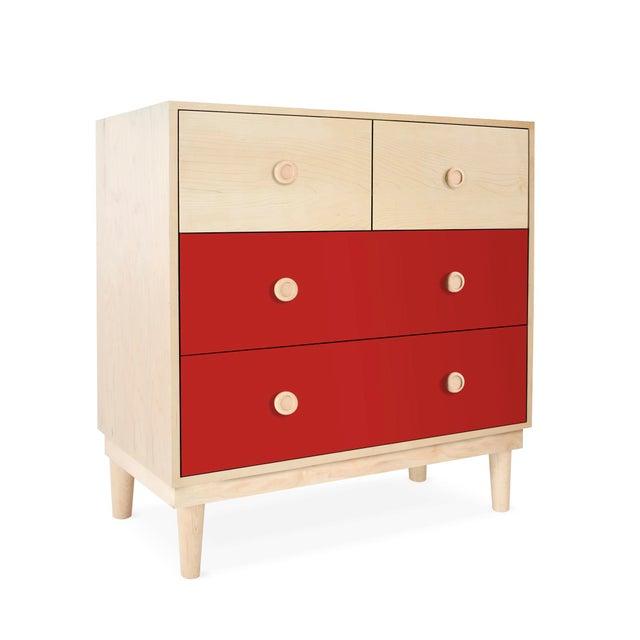 Lukka Modern Maple Wood Kids Dresser. A simple elegant design, a modern take on a '50s inspired shape. Our Lukka dresser...