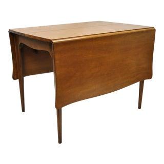 Vintage Drexel Dateline John Van Koert Mahogany Extension Dropleaf Dining Table For Sale