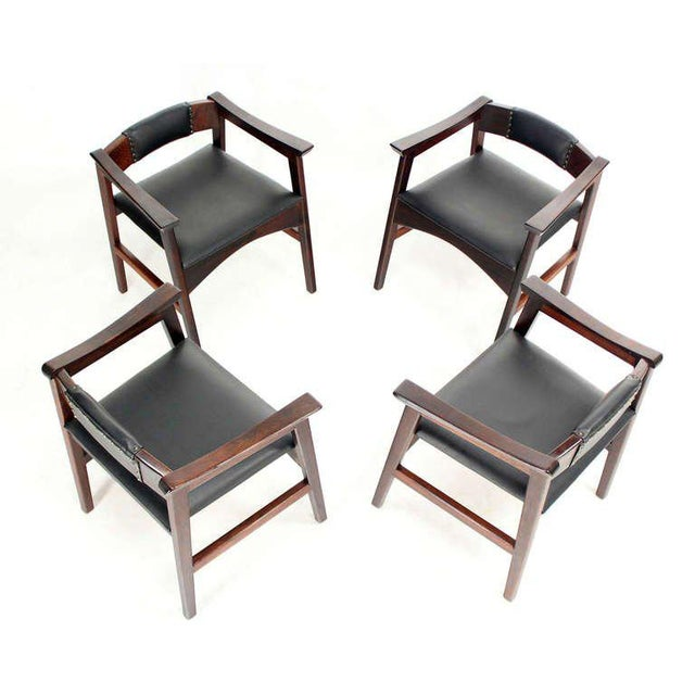 1960s Vintage Danish Mid-Century Modern Rosewood Dining Chairs - Set of 4 For Sale - Image 11 of 11