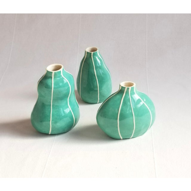 Green Bud Vases - Set of 3 For Sale In Seattle - Image 6 of 6