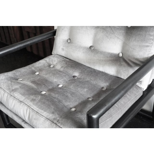 Milo Baughman Grey Mohair Scoop Cube Lounge Chair For Sale In Palm Springs - Image 6 of 7
