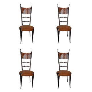Set of Four Aldo Tura Side Chairs For Sale
