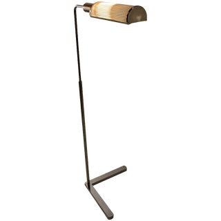 Bright Chrome Casella Adjustable Floor Lamp For Sale