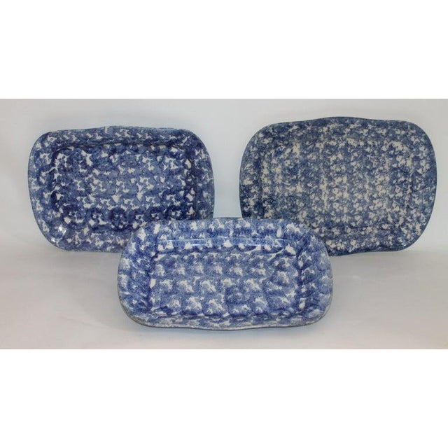 Late 19th Century 19th Century Sponge Ware Platters - Collection of 4 For Sale - Image 5 of 9