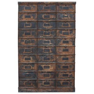 Early 20th Century French Industrial Cabinet Armoir For Sale
