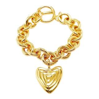Heart Charm Bracelet by Margaretha Ley for Escada For Sale