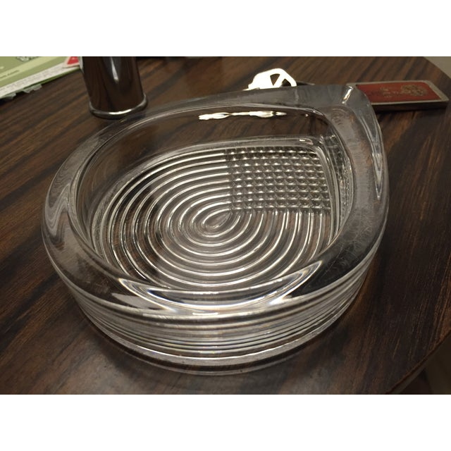 Vintage Art Deco Clear Glass Teardrop Ashtray - Image 3 of 3