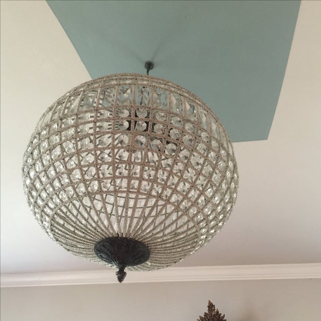 Modern French Pendant Crystal Sphere For Sale - Image 9 of 10