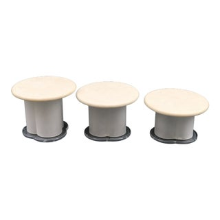 1970s Minimalist 3-Piece Coffee Table Set For Sale