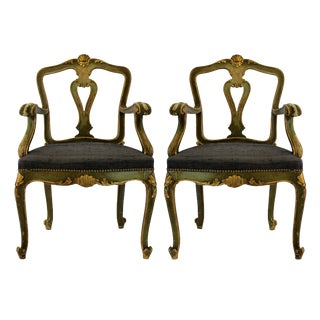 Pair of Northern Italian Armchairs For Sale