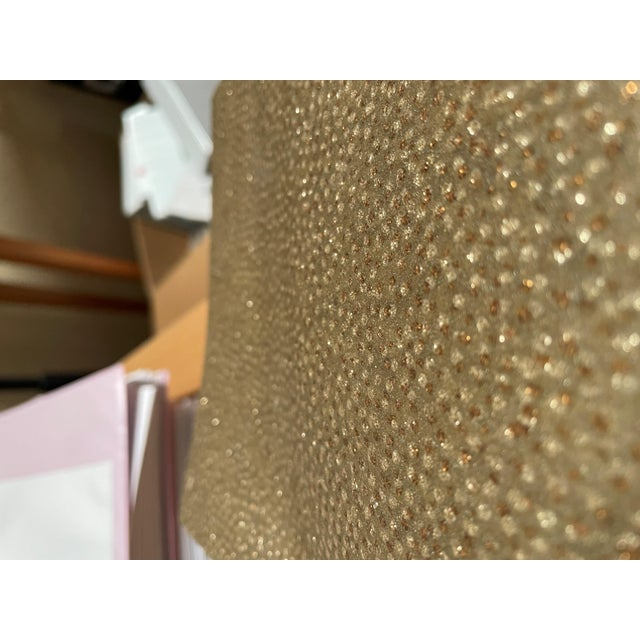 Neutral Gold and Silver Glass Beaded Wallpaper For Sale - Image 4 of 4