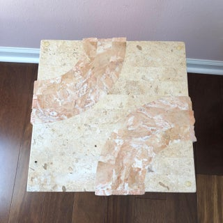 Contemporary Tessellated Travertine Accent Tables - a Pair Preview