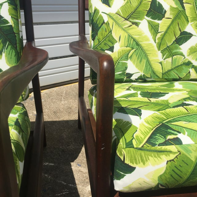 Mid 20th Century Pair of Mid-Century Banana Leaf Lounge Chairs For Sale - Image 5 of 6