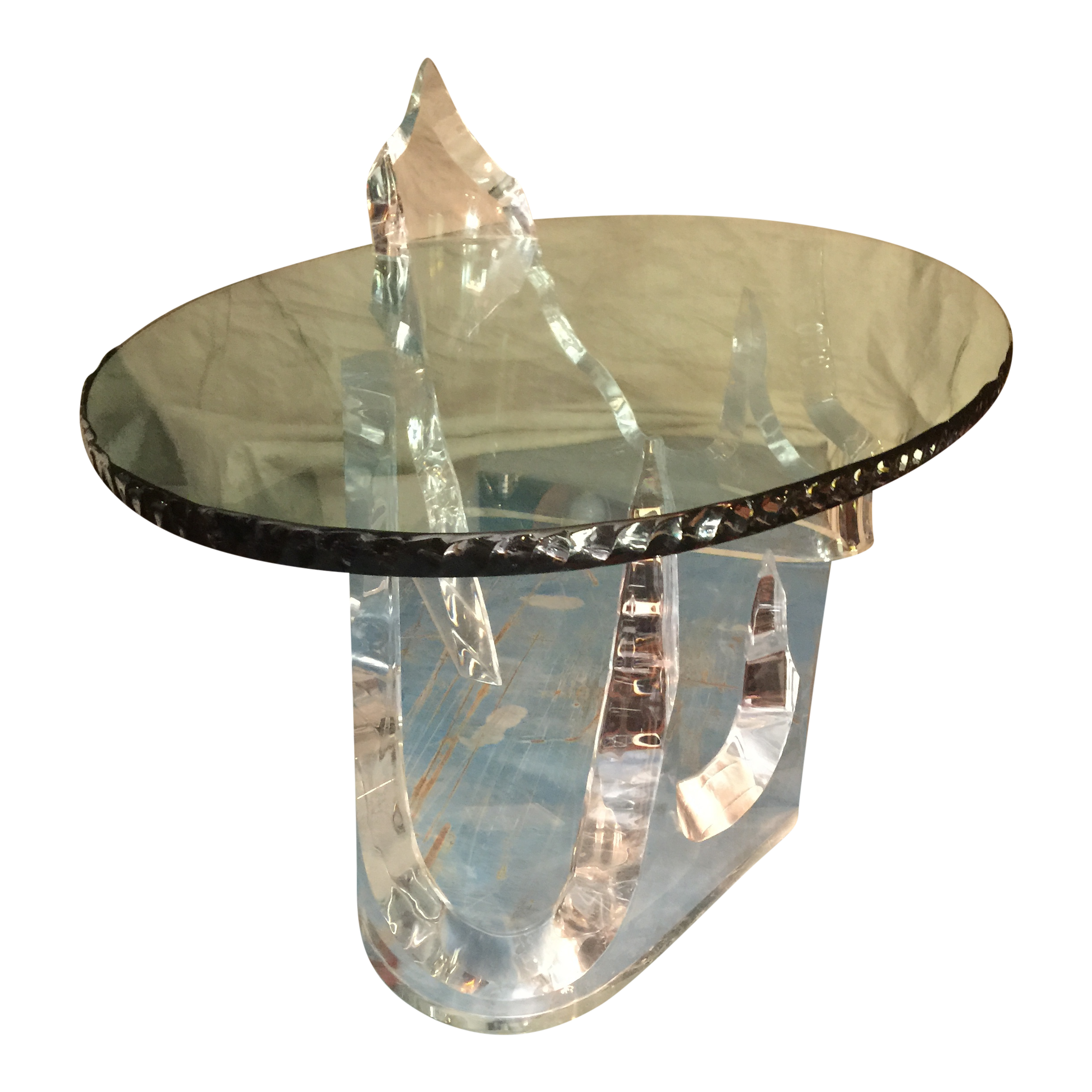 Lion In Frost Iceberg Lucite/Acrylic Coffee Table