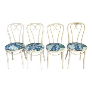 White Bentwood Bistro Dining Chairs - Set of 4