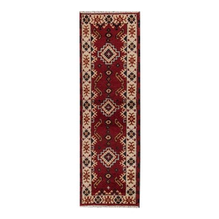 "Hand-knotted Kazak Style Rug, 2'1"" x 6'7"" For Sale"