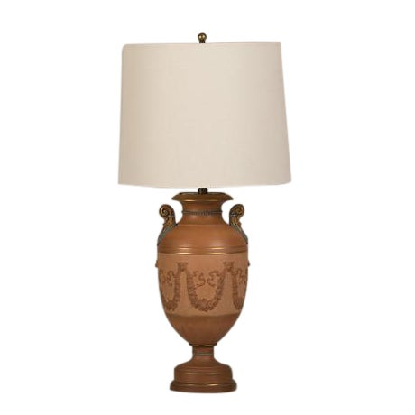 Antique Italian Neoclassical Terracotta Urn Now Mounted as a Lamp, circa 1880 For Sale