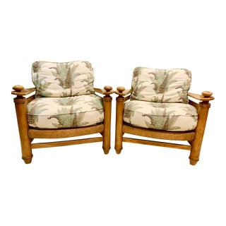 Drexel Heritage Solarium Style Lounge Chairs- A Pair For Sale