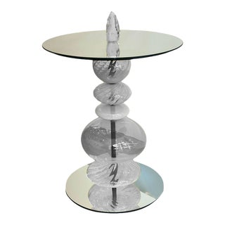 Abacus Frost Accent Table For Sale