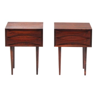 1960s Mid Century Modern Arne Vodder Rosewood Night Stands - a Pair For Sale