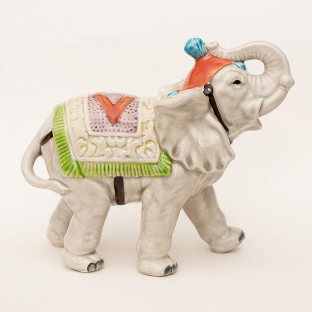 1983 Japanese Porcelain Circus Elephant Figurine or Bookend For Sale In Dallas - Image 6 of 13