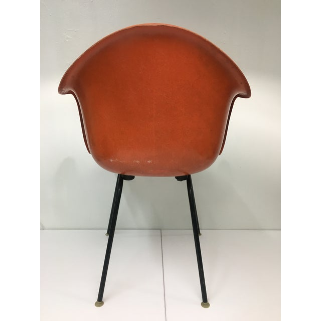 1960s Mid-Century Modern Burnt Orange Shell Chair by Cole Steel For Sale - Image 5 of 12