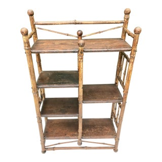 Antique Bamboo Wall Shelf For Sale
