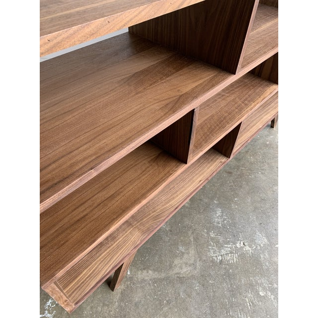 Walnut Modern Book Case For Sale - Image 9 of 13