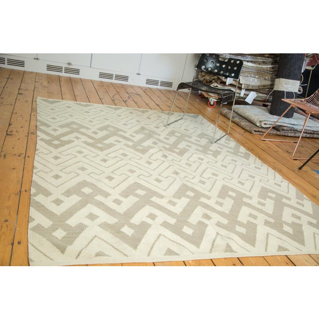 "Abstract Kilim Carpet - 6' X 7'10"" - Image 2 of 8"