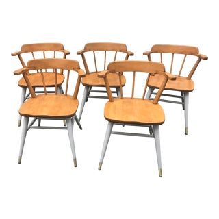 Vintage Mid Century Chairs by Astra Bentwood Furniture Company - Set of 5 For Sale
