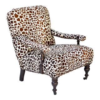 Cowhide Printed Barclay Butera Lounge Chair