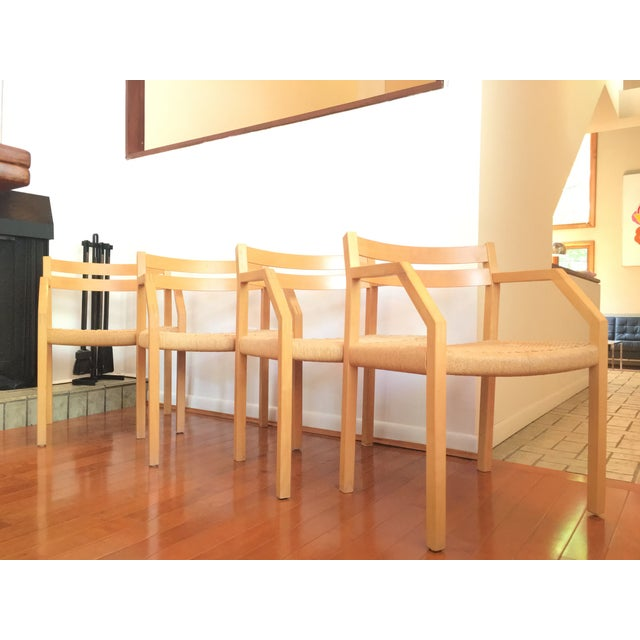 Danish Modern J. L. Moller Model #404 Birch Chairs - Set of 4 For Sale - Image 3 of 8