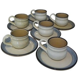 """""""Momma Ro"""" Espresso Cups & Saucers - Set of 6"""