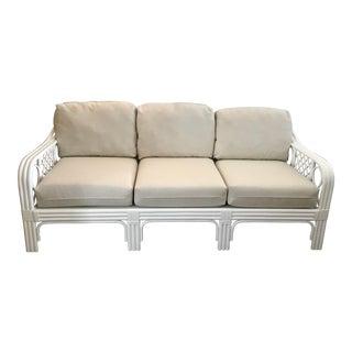 1960s Vintage Restored Ficks Reed Sofa For Sale