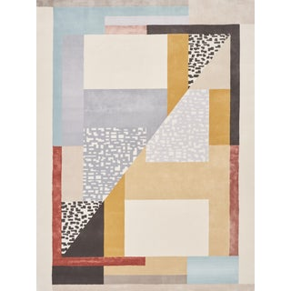 Early 21st Century Schumacher Patterson Flynn Martin Ratio Hand-Tufted Wool Silk Rug - 9' X 12' For Sale