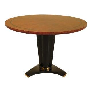 Biedermeier Style Round Walnut & Black Dining Table