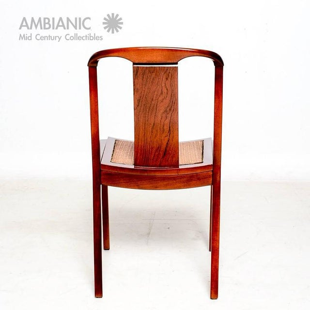 Mid-Century Modern Set of Four Dining Chairs After Baker For Sale - Image 3 of 10