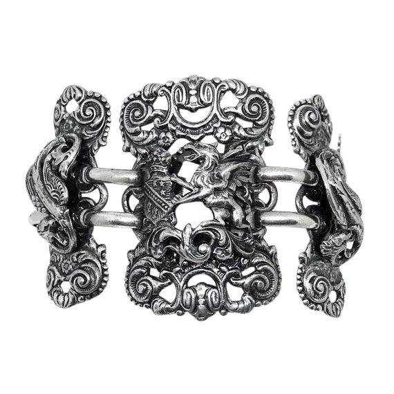 Napier Silvertone Griffon Bracelet For Sale