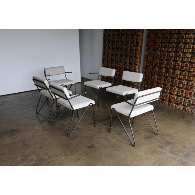 George Kasparian Dining Chairs, circa 1950. The price listed is for the set of six chairs..