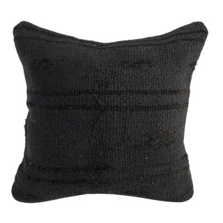 Nomadic Ethnic Turkish Handmade Black Sofa Kilim Pillow For Sale