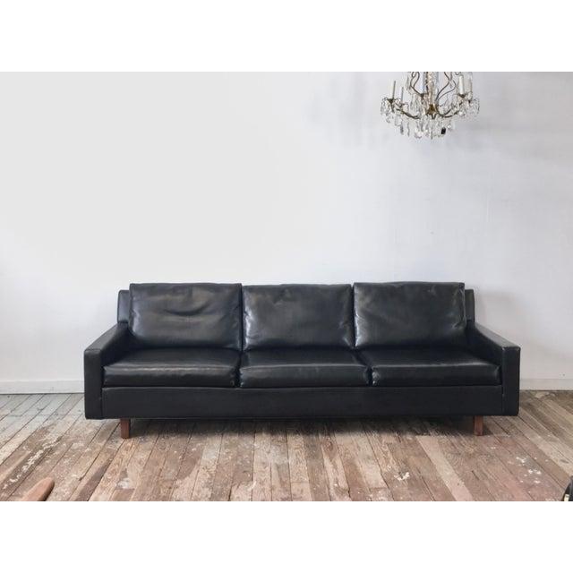 On Hold - Mid Century Black Naugahyde Sofa - Image 2 of 8