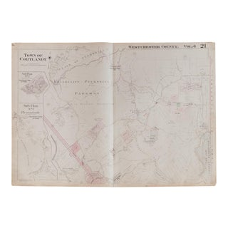 Vintage Hopkins Map of Town of Cortlandt NY For Sale