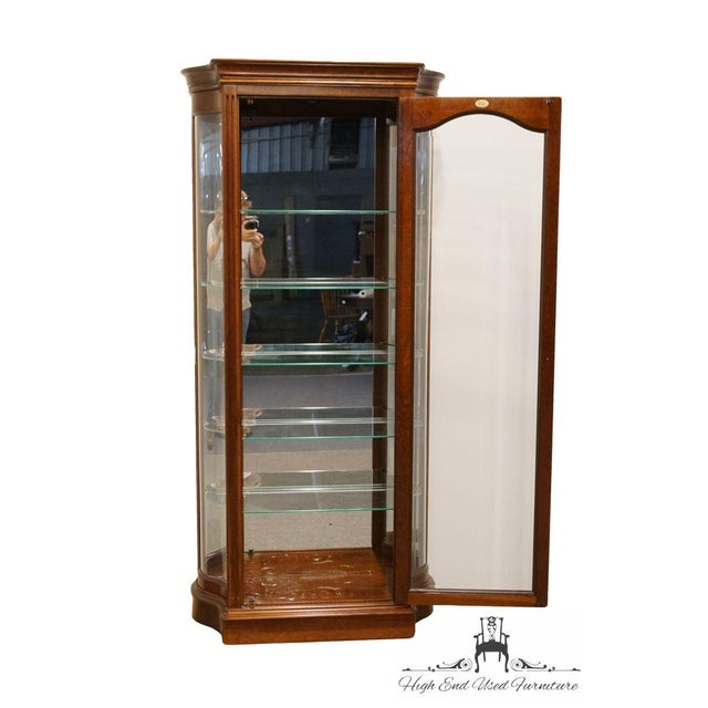 """20th Century Traditional Jasper Cabinet Solid Colonial Cherry 37"""" Curio Display Cabinet For Sale - Image 4 of 12"""