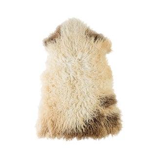 """Contemporary Natural Sheepskin Pelt - 2'2""""x3'3"""" For Sale"""